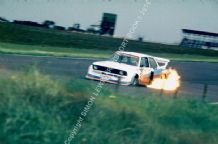 BMW 320 Turbo Group 5 Ronnie Peterson . Silverstone 6 Hours 1978. Flame spitting photo